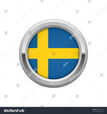 round silver badge swedish flag stock vector 548510572 shutterstock