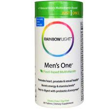 rainbow light men s one multivitamin review men s one food based multivitamin rainbow light dietary supplement