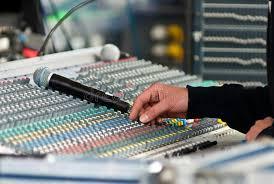 Sound Desk Sound Engineer At Mixing Desk Stock Image Image 15399569