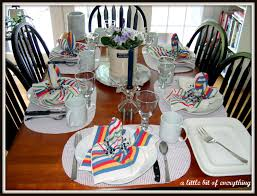 Casual Table Setting A Little Bit Of Everything Table Settings Casual Dinner Table
