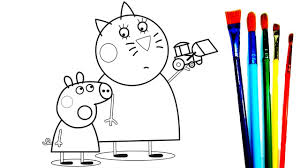 coloring book mummy cat peppa pig bull coloring pages