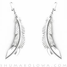 silver feather earrings doug etsitty engraved sterling silver feather earrings shumakolowa