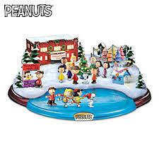 peanuts christmas peanuts christmas skating pond illuminated masterpiece sculpture