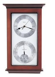 Wall Clocks by Bulova Weather Station Wall Clock Thermometer Hygrometer