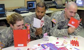 cards and letters to soldiers needed along with care package items