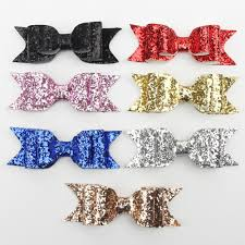 toddler hair bows hair clip women girl big glitter hair bow kids hairpins hair