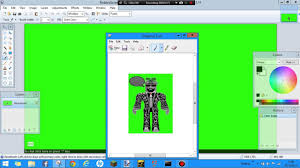 how to make transpant robloxians on paint net and green screen