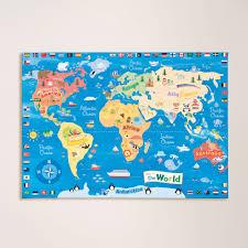 World Map Bedding World Map Wall Canvas Gltc
