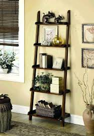 Natural Oak Leaning Shelves With Oak Ladder Shelf Bookcase Solid Raw Oak Leaning Shelf Unit A