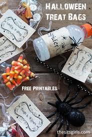halloween treat bags halloween treat printables