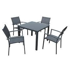 nice aluminium outdoor table mimosa 5 piece ascot aluminium