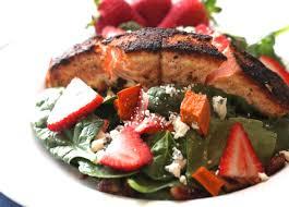 blackened salmon u0026 strawberry salad laura lea balanced