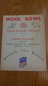 college football thanksgiving day cisco junior college snow college football 1981 vintage sport
