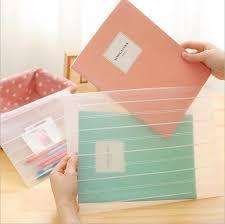 fermeture bureau en gros 24 pcs lot poli mat transparent pp a4 fichier dossier avec fermeture
