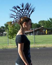 new age mohawk hairstyle funny hair style of lady looks like crown of alexander the great