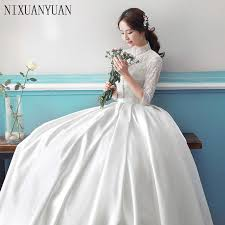 sleeved wedding dresses gown simple sleeve wedding dresses with lace 2017 scoop