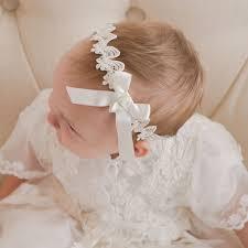 lace headband baby girl lace headband christening baptism collection