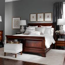 inspirational paint ideas for bedroom with cherry furniture