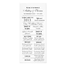 wedding program card stock vintage typography style vertical card stock wedding programs