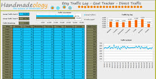 Time Tracking Spreadsheet Excel Free Free Etsy Traffic Log And Goal Tracker Handmadeology