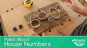 how to make pallet wood house numbers youtube