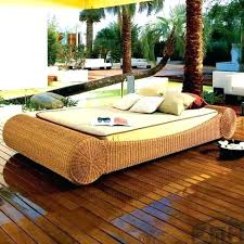 all weather canopy wicker daybed patio furniture outdoor wicker