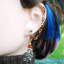 earrings with chain ear cartilage cartilage chain earrings elfling creations online store