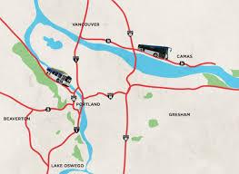Portland Trails Map by The Boot Bus Willamette Week
