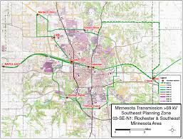 rochester mn map minnesota electric transmission planning