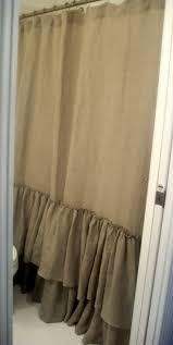 bathroom tan ruffle shower curtain for cool bathroom decoration ideas