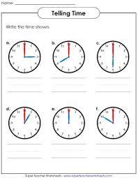 free worksheets time worksheets super teacher free math