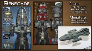 renegade starship map poster u0026 miniature by ryan wolfe u2014 kickstarter