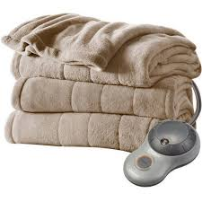 sunbeam electric heated plush blanket walmart com