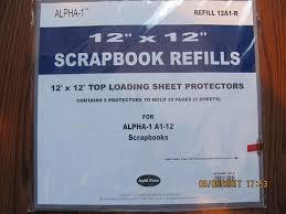 pioneer scrapbook refills 12 x12 top loading sheet protectors scrapbook refills from