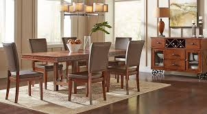 red hook pecan 5 pc rectangle dining room dining room sets dark wood