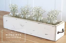 wood centerpieces diy wood box centerpiece grows