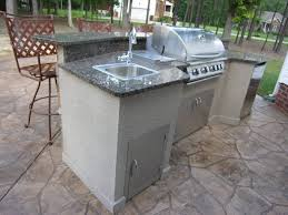Outdoor Kitchen Sink Faucet by Kitchen Beautiful Outdoor Kitchen Ideas With Brick Plat Form