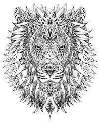 coloring page lion grown up coloring pages lion head coloringstar