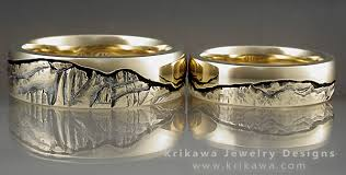 wedding band alternatives nature rings matched nature wedding bands by krikawa