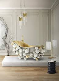 marble bathroom design ideas with luxurious coffee and side tables