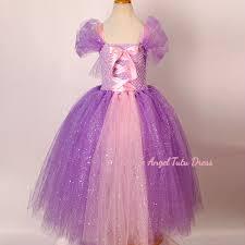 deluxe tangled rapunzel glitter purple dress handmade fancy dress