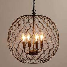 Outdoor Iron Chandelier Lamp Contemporary Candle Chandelier Non Electric For Beautiful