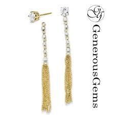 earring jackets dangle 14k gold bead tassel earring jackets th554 chandelier and