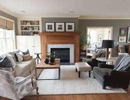 images for living rooms furniture gray living room with wood mantel kristin hoaglund