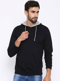 american crew black hooded sweatshirt at rs 524 from myntra com