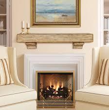 furniture fireplace mantel decor contemporary creamy living