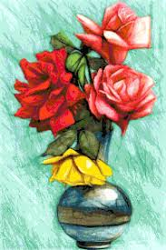 roses in a round vase free cross stitch pattern better cross stitch