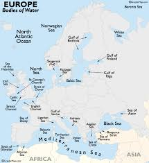 bodies of water list europe bodies of water map