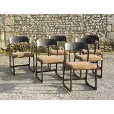 chaise traineau baumann série de 6 chaises baumann modèle luge traîneau vintage 70 baumann