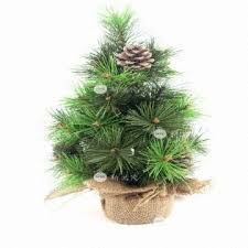 12 inch pine cones and needles artificial tree global